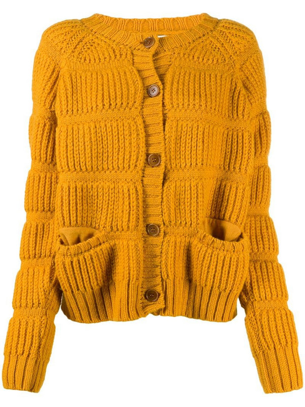 Henrik Vibskov chunky button-up cardigan in yellow