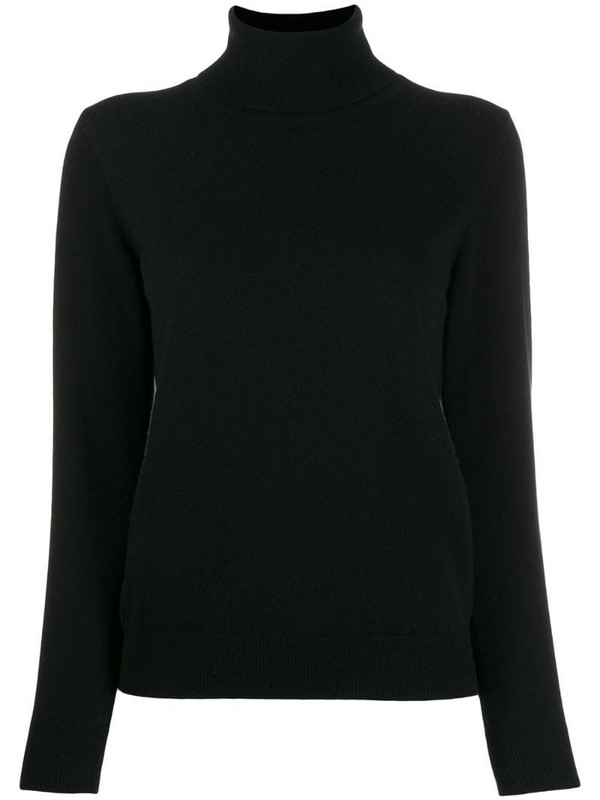 N.Peal polo neck sweater in black