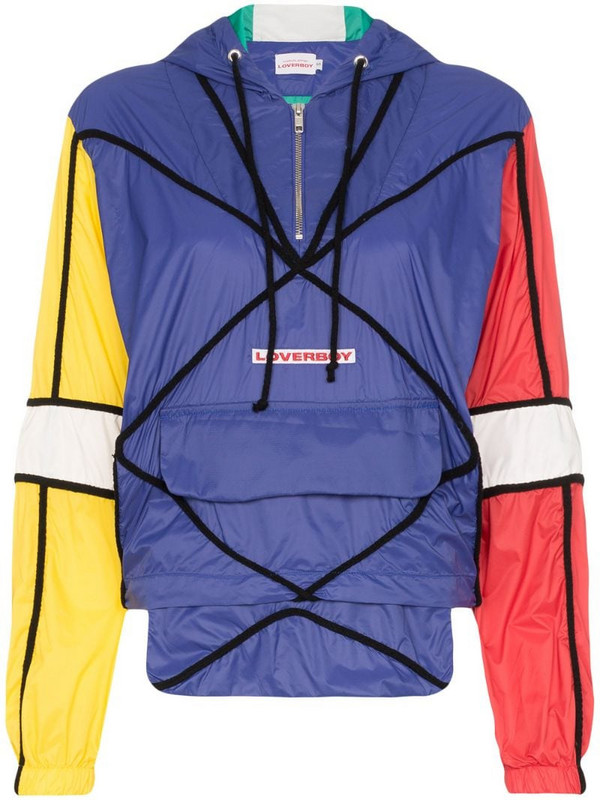 Charles Jeffrey Loverboy colour-block windbreaker jacket