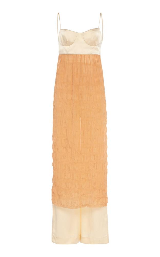 Johanna Ortiz Back In The Days Silk Jumpsuit Size: 0 in orange