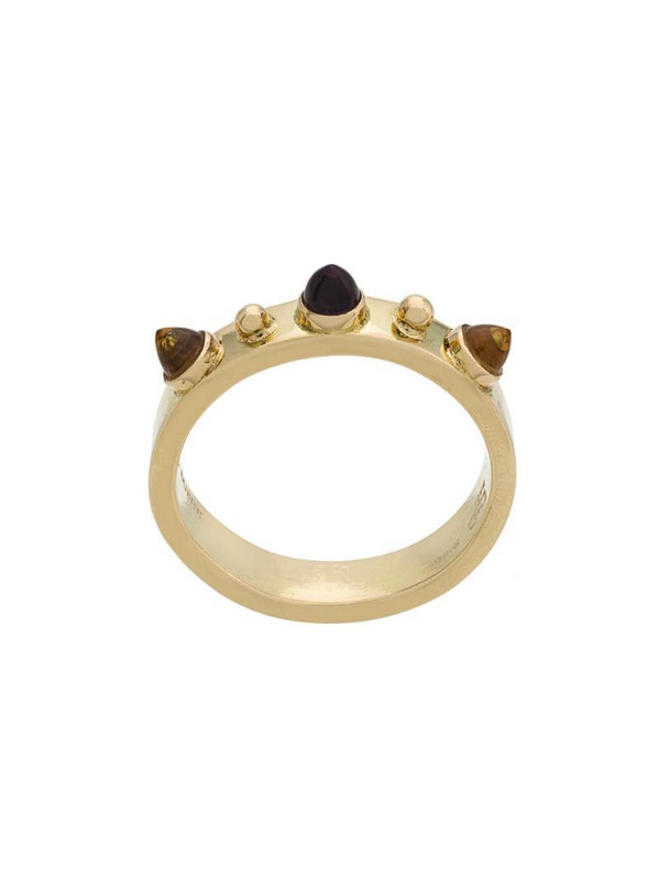 Dubini Punta di Diamante 18kt gold ring in metallic