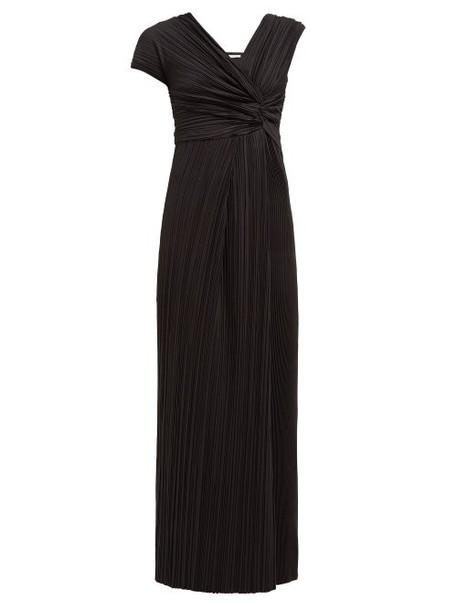 The Row - Allure Asymmetric Plissé Gown - Womens - Black