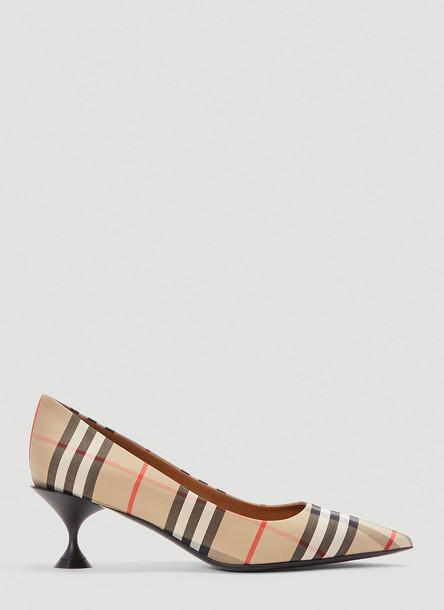 Burberry Vintage Check Pump Heels in Beige size EU - 37