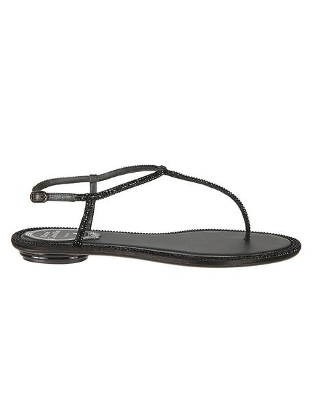 René Caovilla Rene Caovilla Embellished Sandals in black