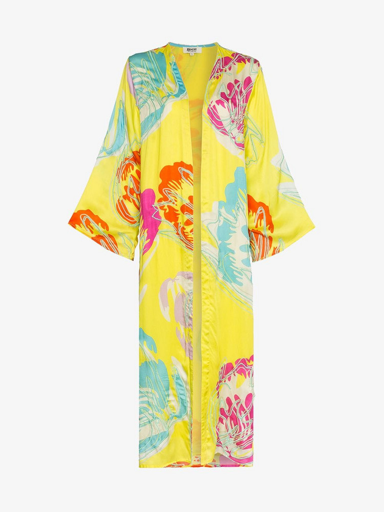 All Things Mochi Camila side split kimono in yellow