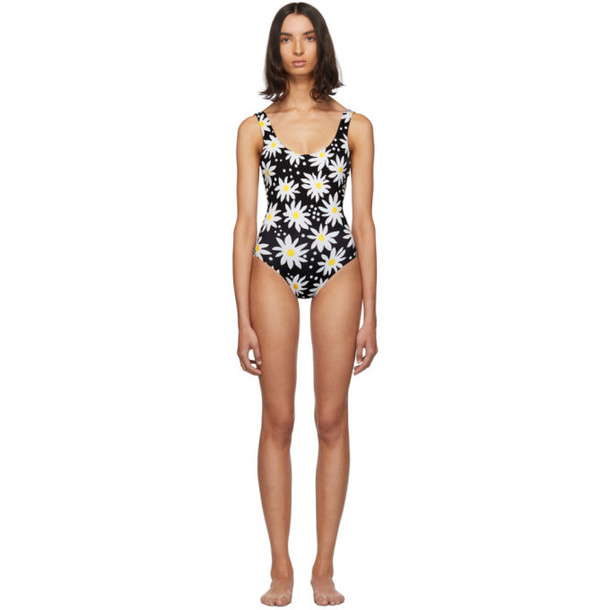Solid and Striped Black and White Daisy The Anne-Marie One-Piece Swimsuit