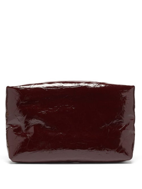 Kassl Editions - Lacquered-leather Padded Clutch - Womens - Burgundy