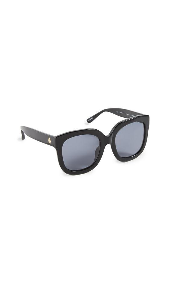 Linda Farrow Luxe Attico x Linda Farrow Zoe Sunglasses in black / gold / grey