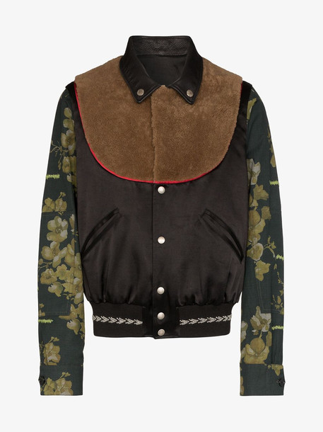Duran Lantink Floral sleeve bib jacket