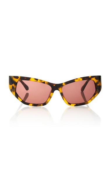 Karen Walker Superhero Cat-Eye Tortoiseshell Acetate Sunglasses in brown