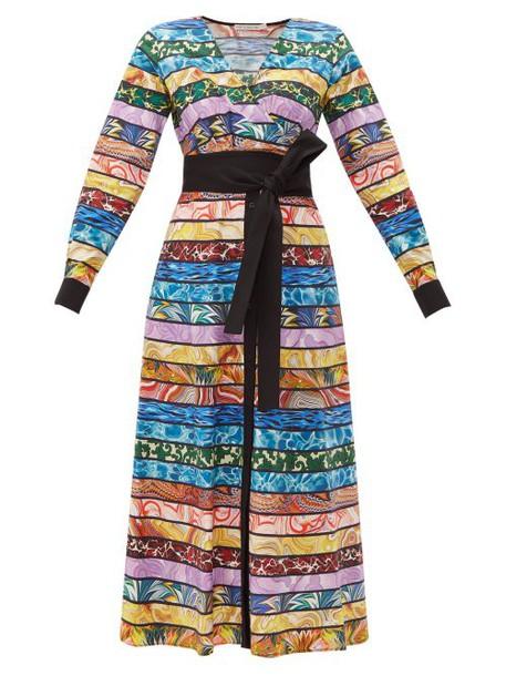 Mary Katrantzou - Monroe Cotton Blend Midi Dress - Womens - Multi