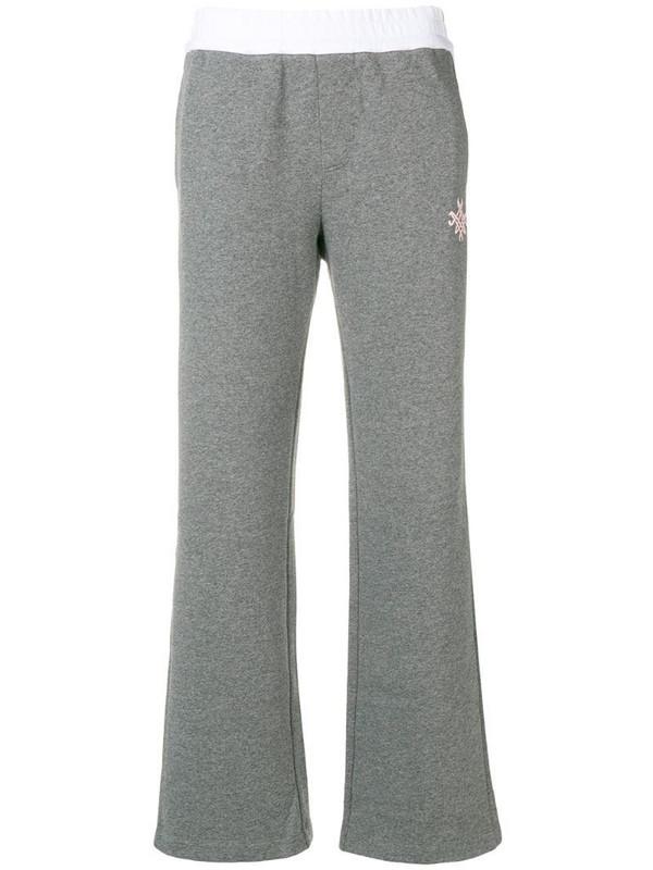 Mr & Mrs Italy side stripe track pants in grey