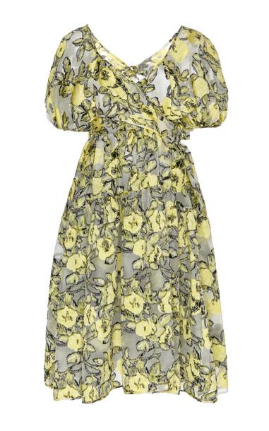 Cecilie Bahnsen Ammi Floral-Patterned Silk-Blend Dress in multi
