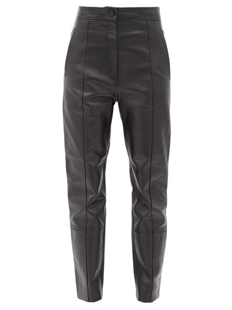 Petar Petrov - Herena Panelled Leather Trousers - Womens - Black