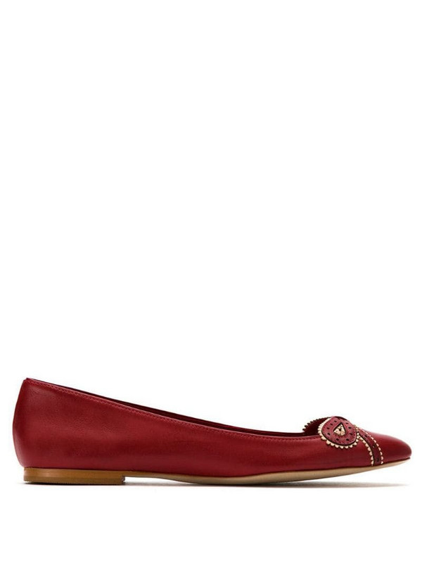 Sarah Chofakian Femelle leather ballerinas in red