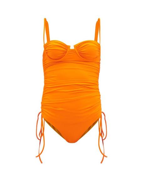 Isa Boulder - Nina Ruched Swimsuit - Womens - Orange