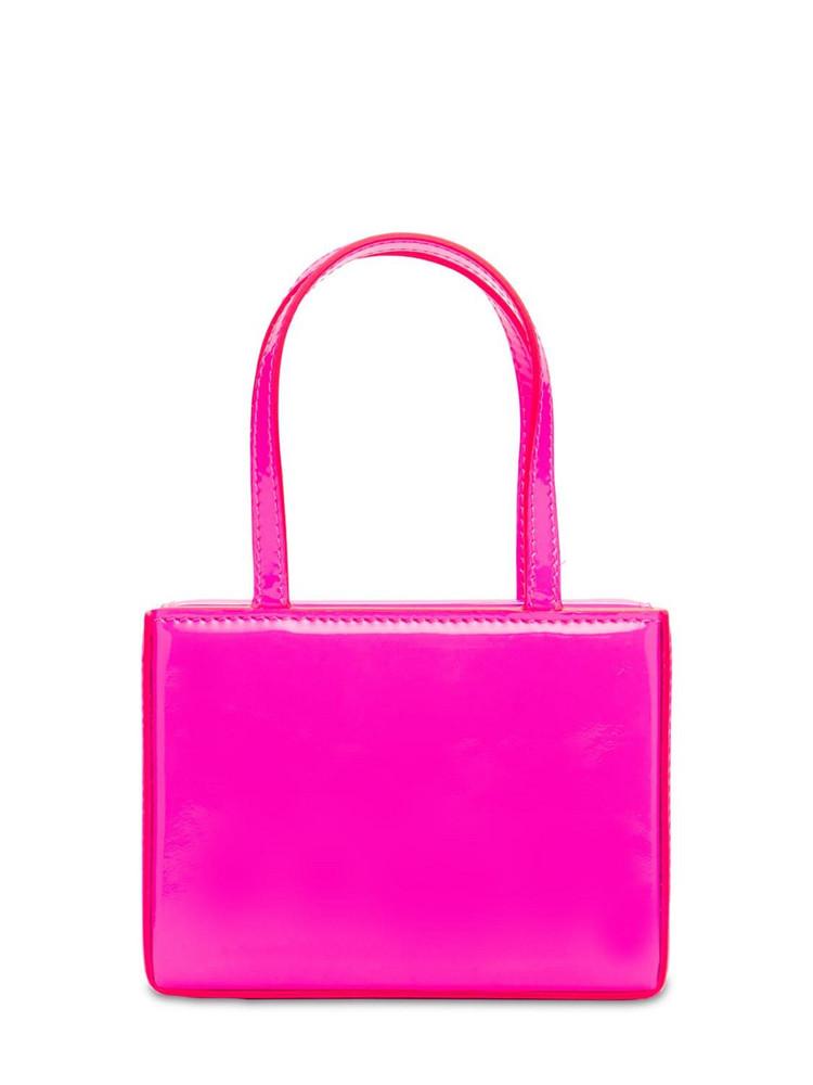 AMINA MUADDI Superamini Leather Top Handle Bag in pink
