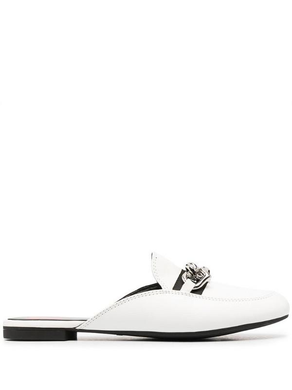Love Moschino slip-on chain-link mules in white