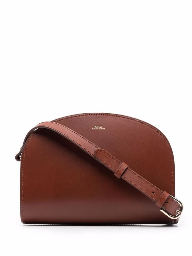 A.P.C. A.P.C. Demi-Lune leather satchel bag - Brown
