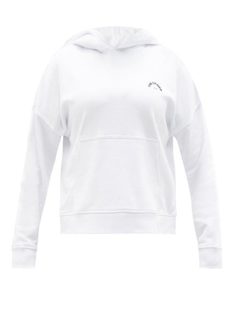 The Upside - Logo-embroidered Organic-cotton Hooded Sweatshirt - Womens - White