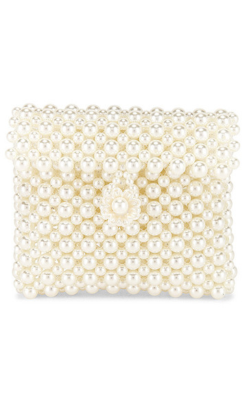 Lovers + Friends Lovers + Friends Michelle Micro Flap Purse in Ivory
