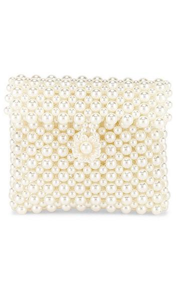 Lovers + Friends Lovers + Friends Michelle Micro Flap Purse in Ivory