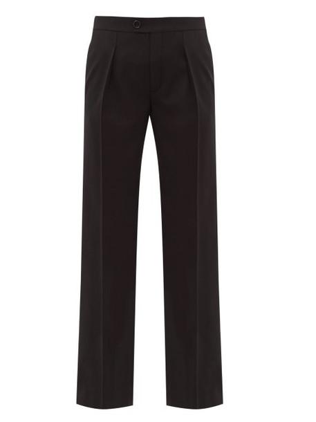 Chloé Chloé - Straight Leg Wool Blend Trousers - Womens - Black