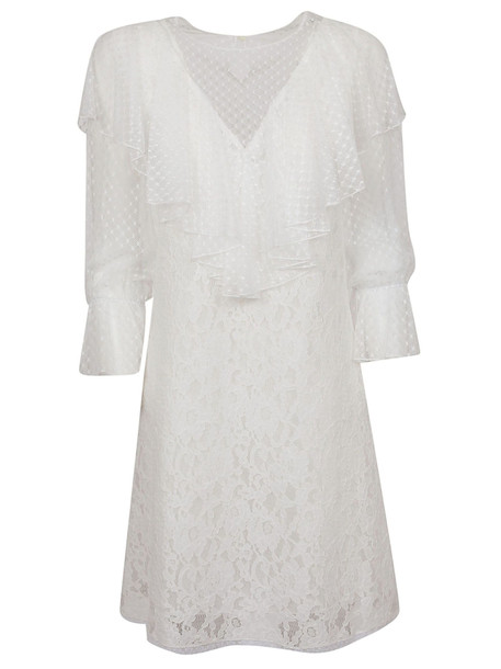 See by Chloé See By Chloé Ruffle Sleeve Dress in white