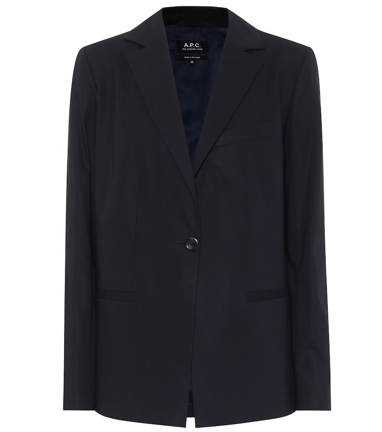 A.P.C. Savannah cotton-crêpe blazer in blue