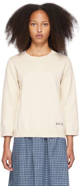 A.P.C. A.P.C. Beige Kourtney Sweater in ecru