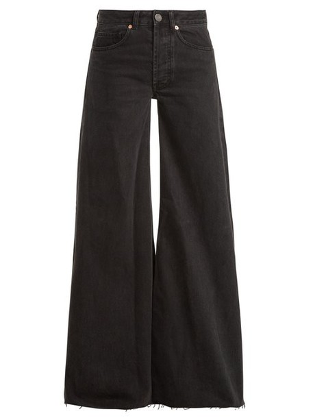 Raey - Loon Wide Leg Jeans - Womens - Black