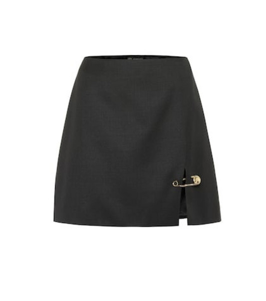 Versace Wool miniskirt in black