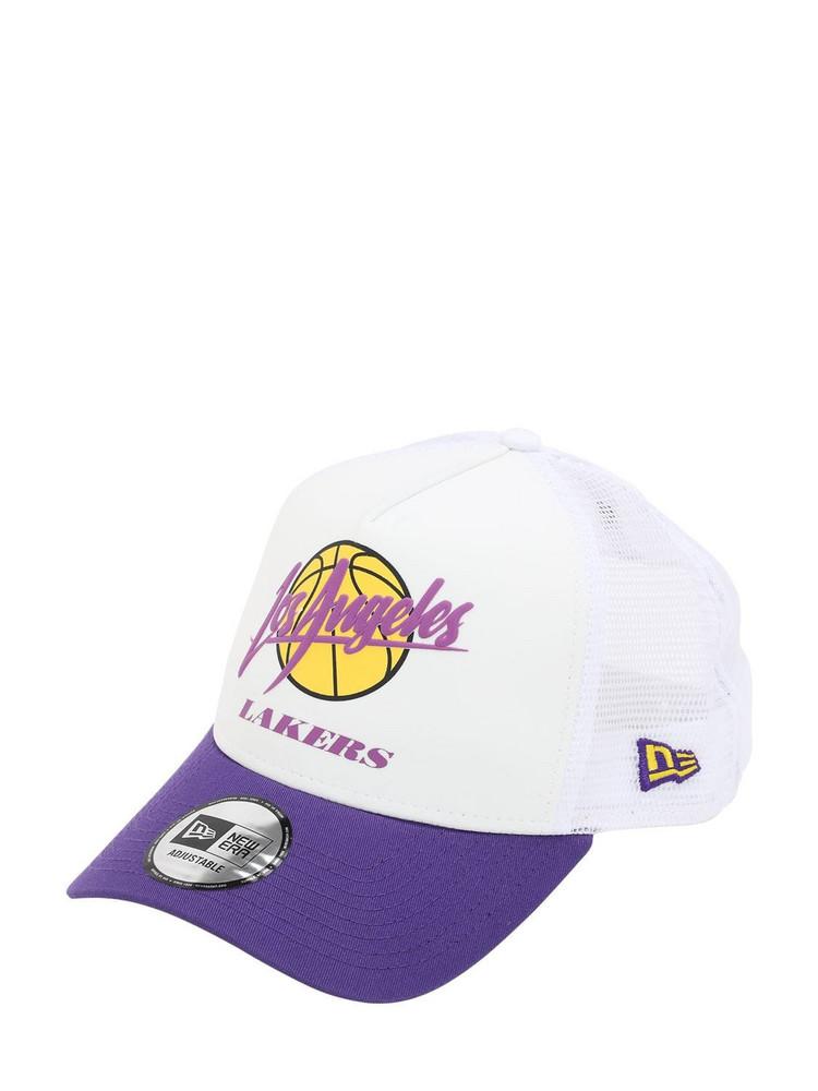 NEW ERA Nba Neoprene Mesh Baseball Hat in purple / white
