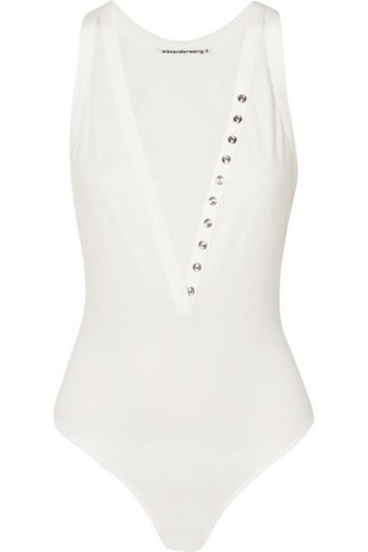 alexanderwang.t - Stretch-cotton Jersey Thong Bodysuit - Ivory