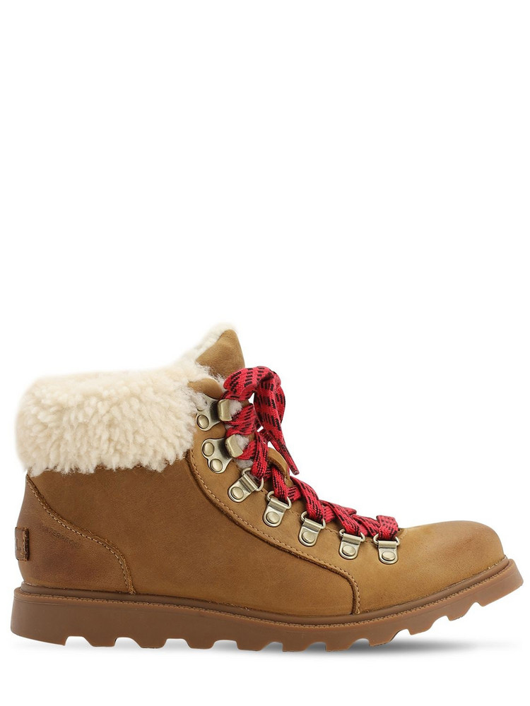 SOREL Ainsley Suede Conquest Boots in brown