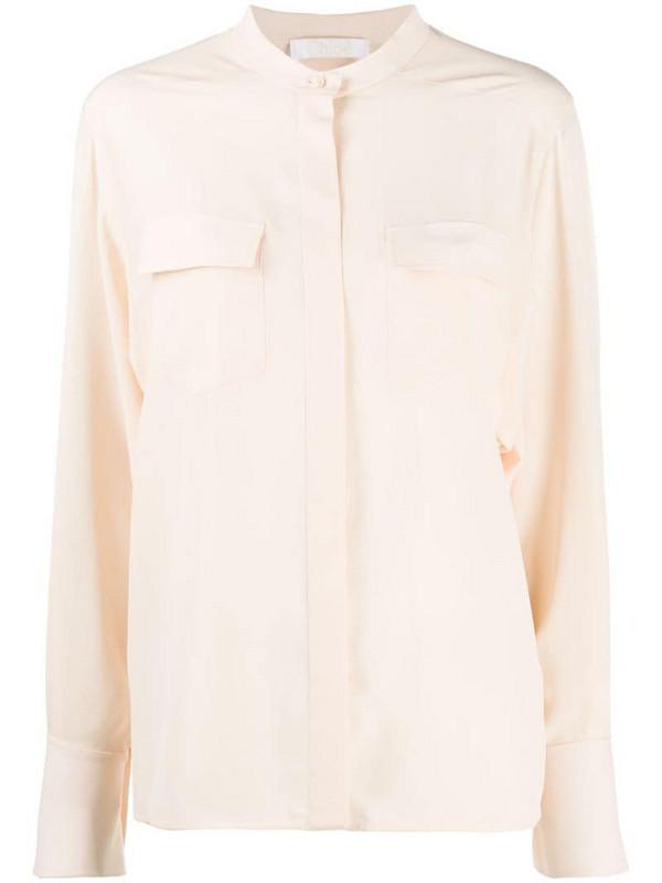 Chloé semi-sheer silk shirt in neutrals