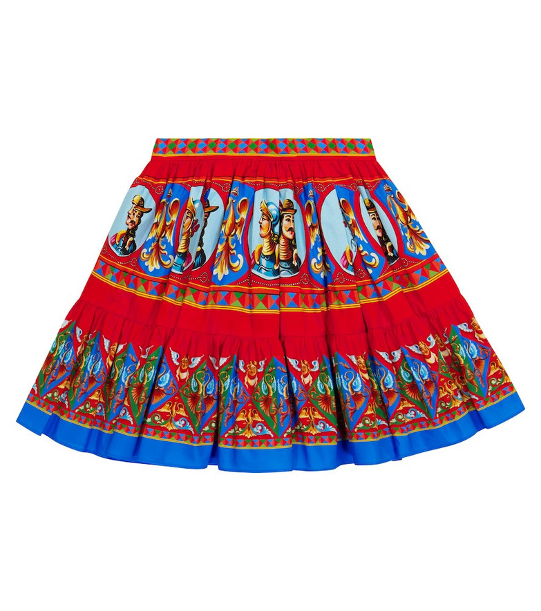 Dolce & Gabbana Kids Printed cotton skirt