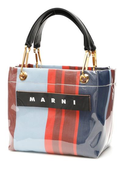 Marni Glossy Grip Mini Bag in blue