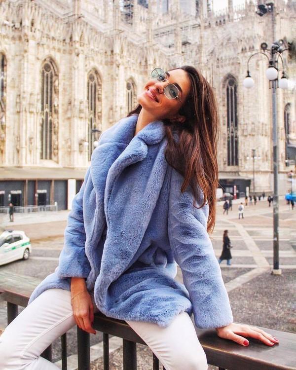 coat blue coat