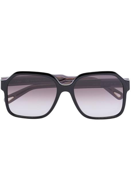 Chloé Eyewear Willow square-frame sunglasses in black