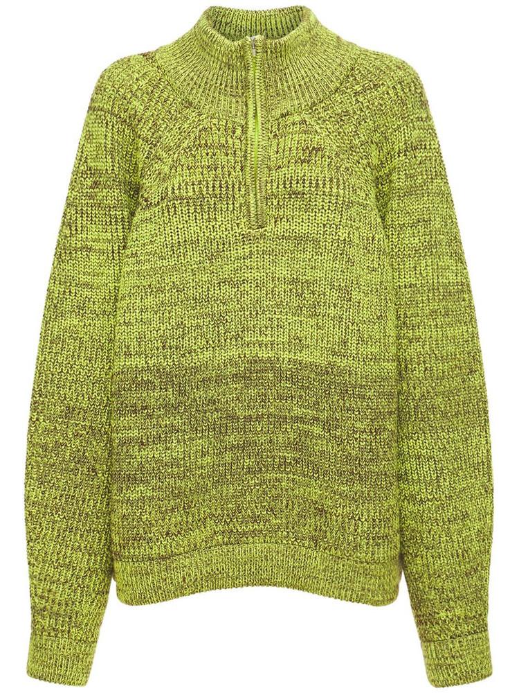 SUNNEI Oversize Wool Sweater in yellow