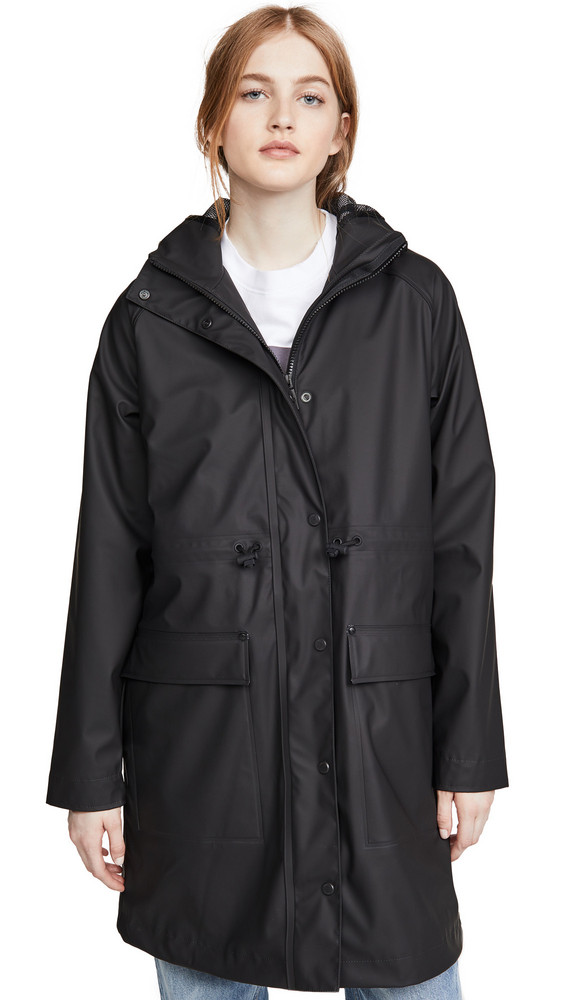 Hunter Boots Lightweight Rubberized Parka in black