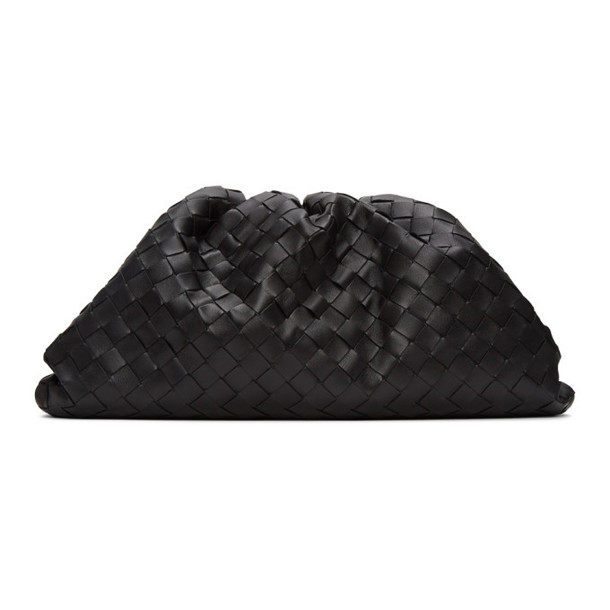 Bottega Veneta Black Intrecciato The Pouch Clutch