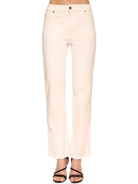 BA & SH Cabril High Waist Straight Denim Jeans in white