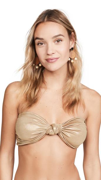 Sara Cristina Marina Bikini Top in gold