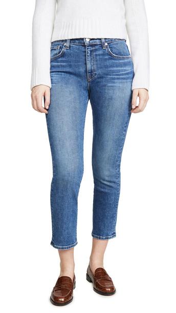 CQY Friend High Rise Straight Leg Jeans