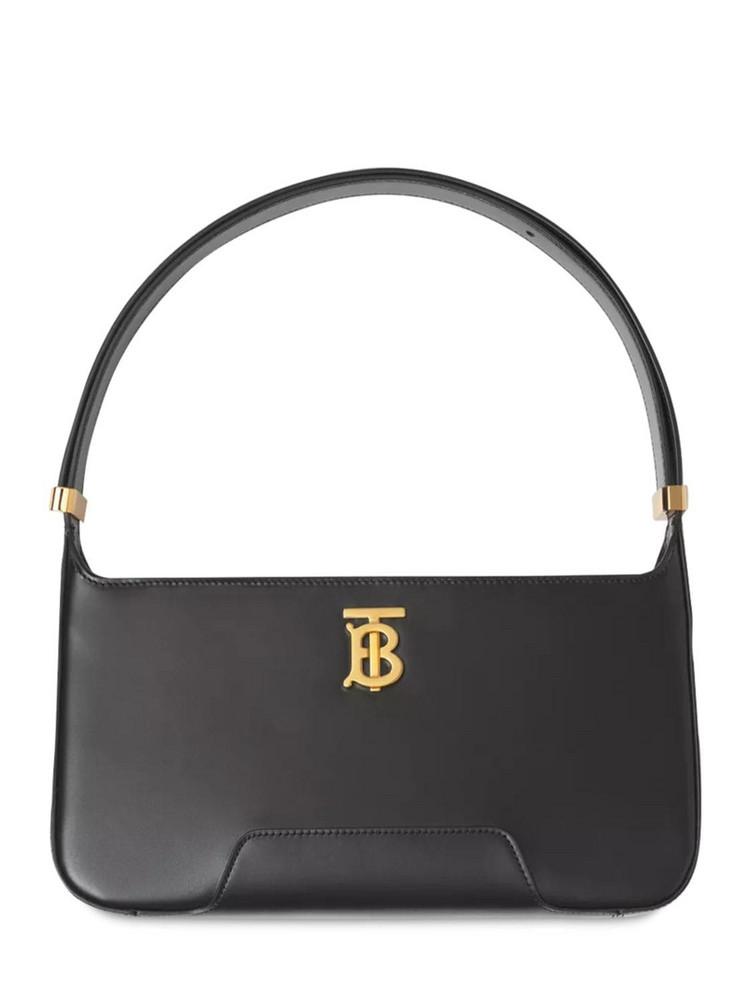 BURBERRY Medium Tb Grain Leather Shoulder Bag in black