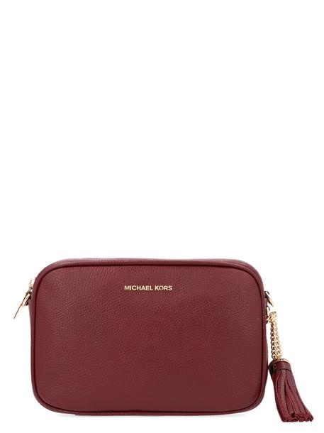 Michael Michael Kors 'camera' Bag in burgundy