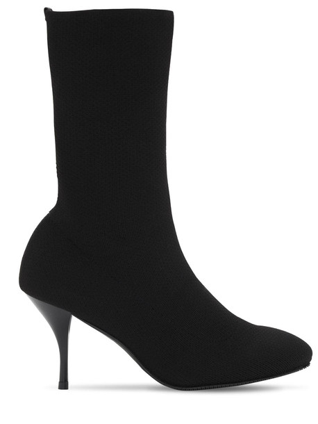 STUART WEITZMAN 80mm Violetta Knit Sock Boots in black