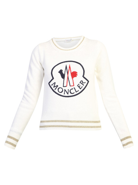 Moncler Wool And Cashmere Sweater in white